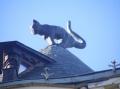 Das Katzenhaus. Der Hintern weist bewußt auf die Gilde.